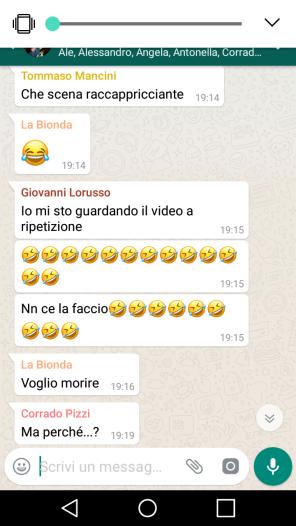screenshot, whatsapp, la vita secondo beer