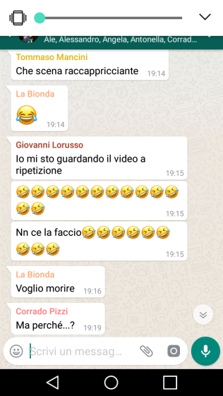 screenshot, whatsapp, la vita secondo beer