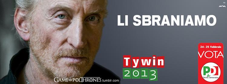 politica, voto, italia, pd, trono di spade, tywin lannister